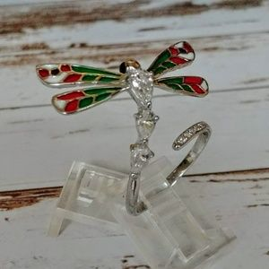 Dragonfly Sterling Wrap Ring